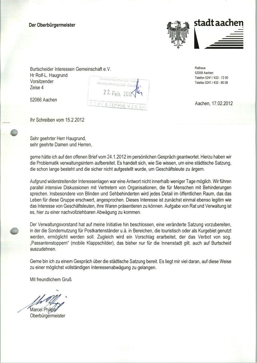 Wie Schreibe Ich Einen Brief An Den Bürgermeister O2 Partner